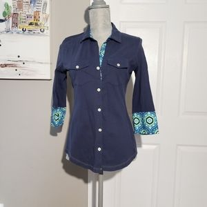 ALP N ROCK 100%cotton button up shirt